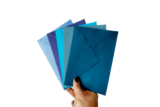 Hand Made envelopes Blue Ocean Collection