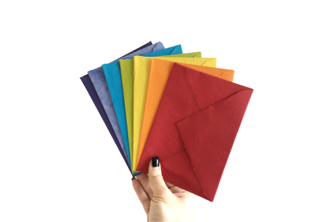 Hand Made envelopes Rainbow Collection