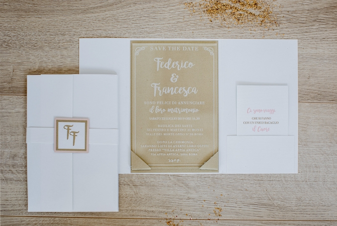Wedding invitation Elegance in Plexi