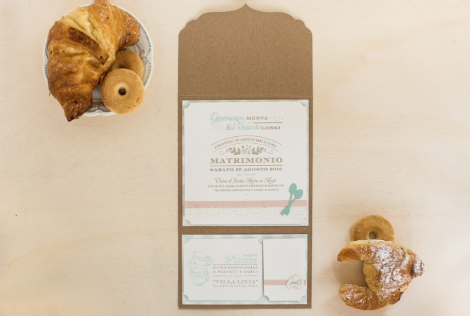Wedding invitation Breakfast Lovers