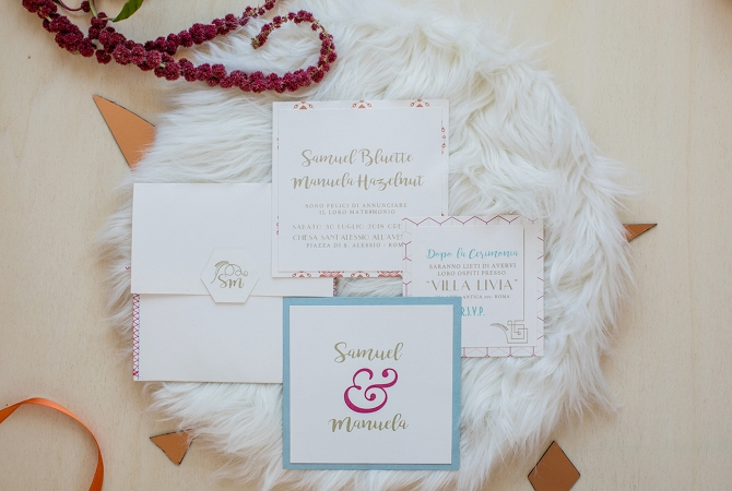 wedding invitation Eclectic