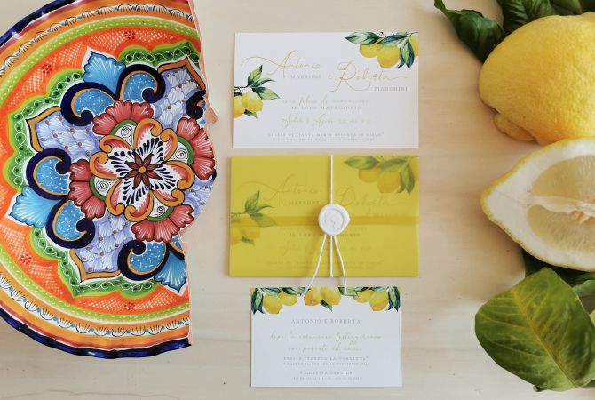 Wedding Invitation Mediterranean