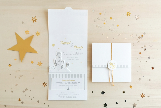 Wedding invitation Little Prince