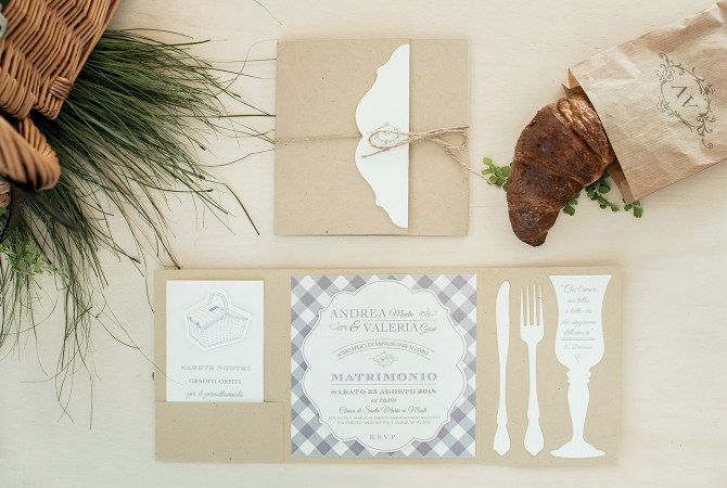 Wedding Invitation Pic nic in Provence