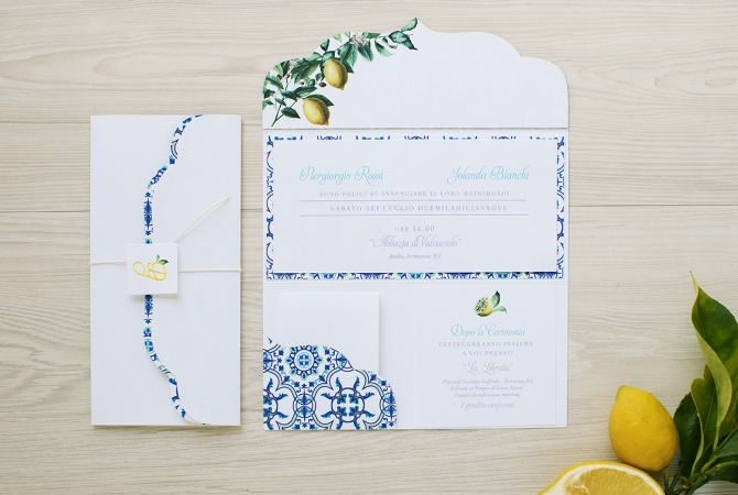Wedding Invitation Lemons' Scent