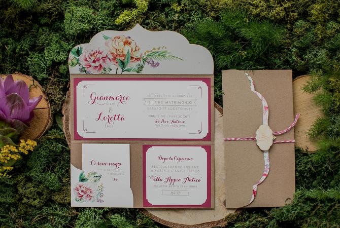 Wedding Invitation Rustic Love