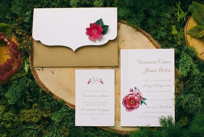 Wedding Invitation Wood Clutch