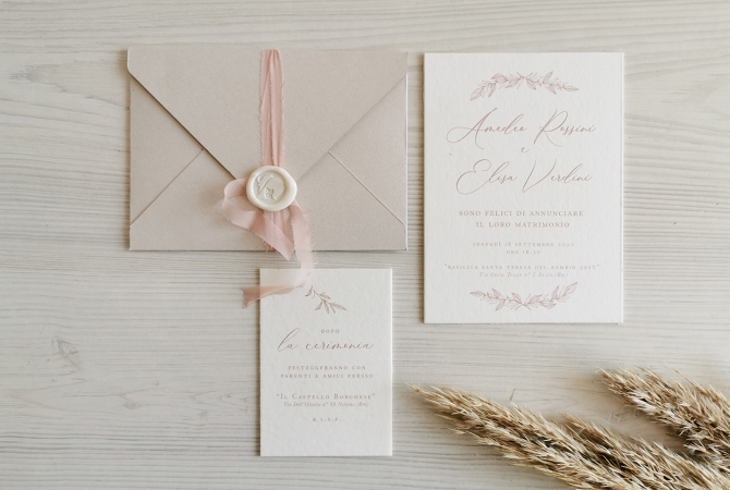 Wedding Invitation Natural Chic
