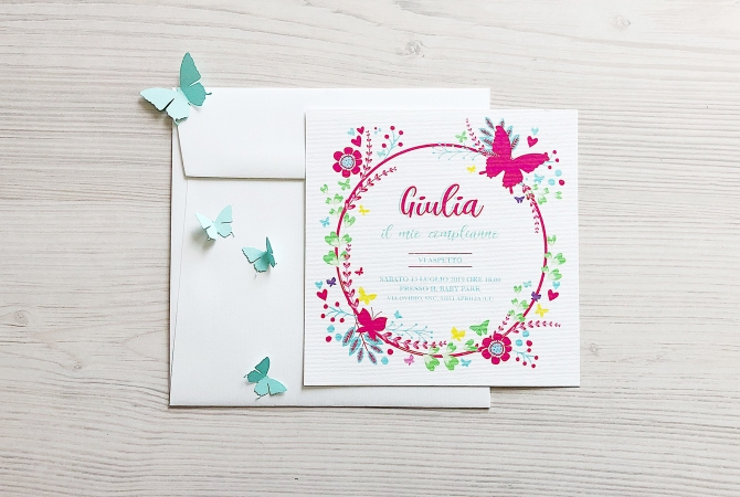 Invitation Butterfly