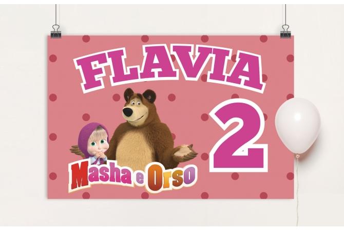 Backdrop Masha and Bear