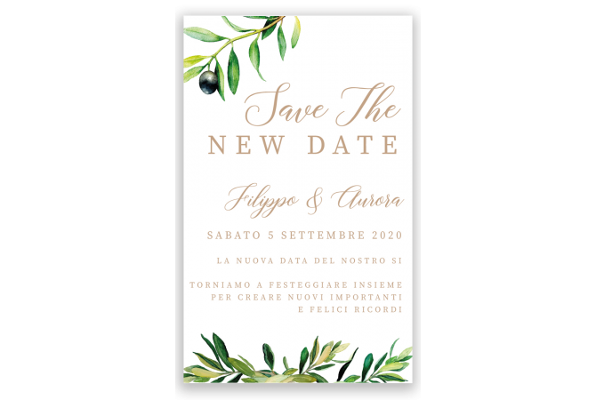 Olive Tree Save the Date