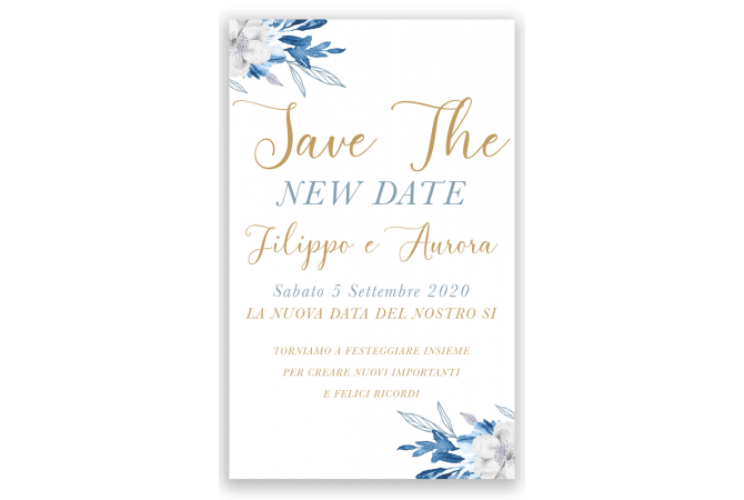 Save the Date New Blue