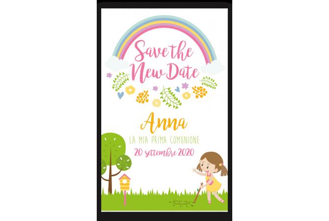 Save the date rainbow Communion